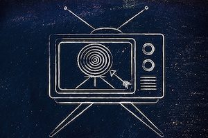 Television with target