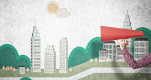 Megaphone against City Scape - Using Social Media to Amplifying Brand