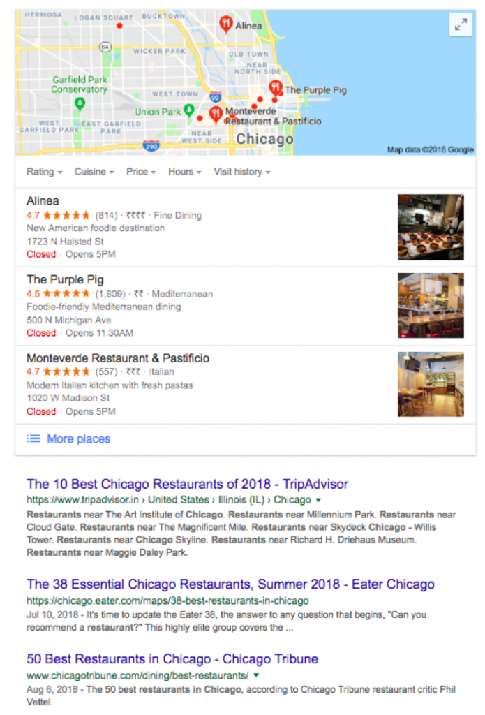 business listings example